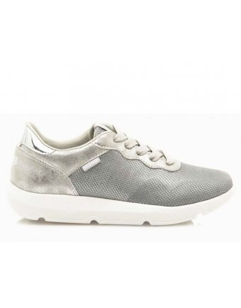 Sneakers mtng με λευκή σόλα silver (69184)