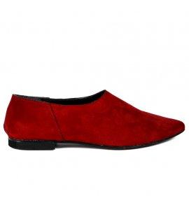 Μπαλαρινες  sedici μυτερες  red suede (800)