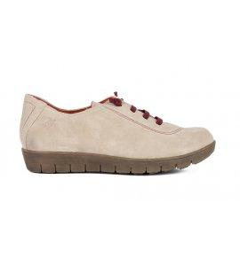 Sneakers Pyramis δερμάτινα  μελί-nude ( 6230/2050)