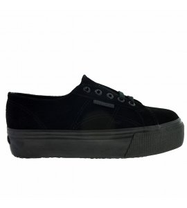 Superga flatforms sneakers total black (S003LM0)