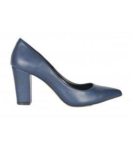 Γόβες  sedici με χοντρό τακούνι μπλε(750)