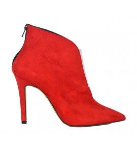 Mποτάκια αστραγάλου sedici red suede (9019)