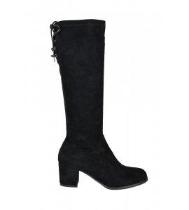 Μπότες Sedici  με κορδόνια πισω black suede (Z76-P2542)