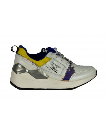 Sneakers Seven λευκό κίτρινο  (FT190220)