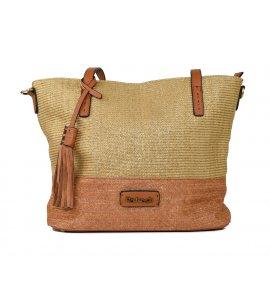 Τσάντα χειρός Refresh camel (83251)