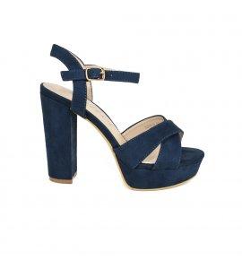 Πέδιλα Sedici blue suede (3335-5)