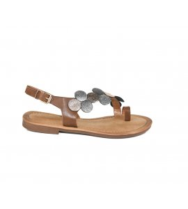 Σανδάλια flat Sedici brown (W1648-JB258)