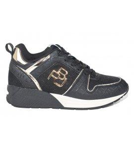 Sneakers replay μαύρο (RS360031S)